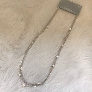 Silver Chain and Disk Necklace